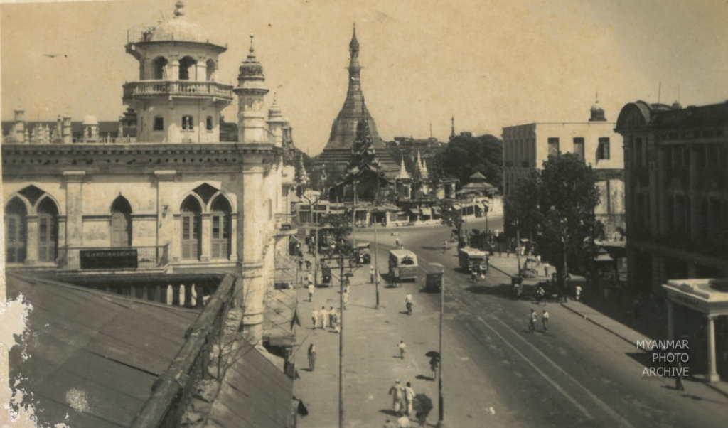 1950s, 1960s, Architecture, Myanmar, Yangon, building, construction, downtown, house, manmade, mosque, street, structure, sule pagoda