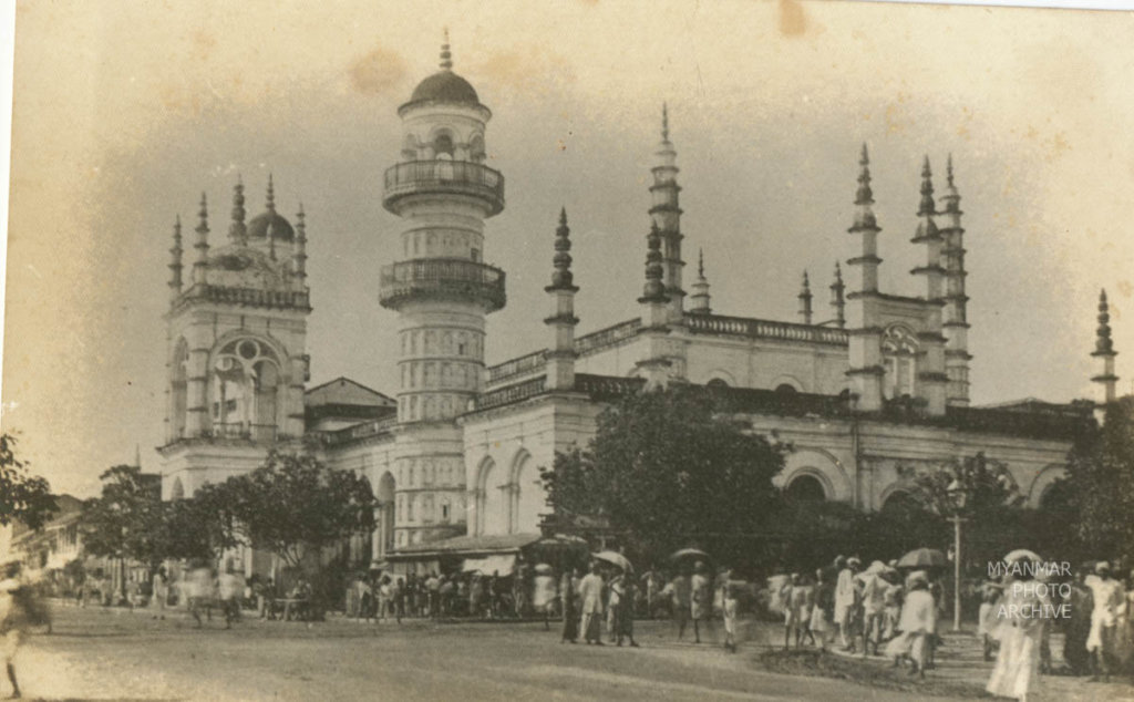 1920s, 1930s, Architecture, Myanmar, Yangon, building, colonial, construction, house, mahabandula, manmade, mosque, street, structure