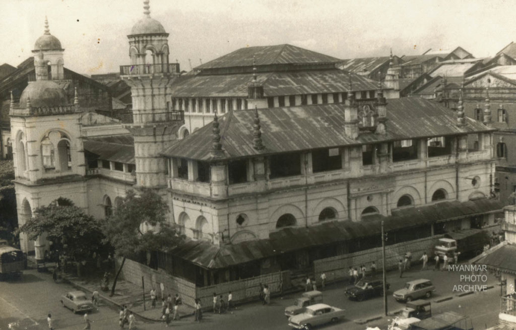 1950s, Architecture, Myanmar, Yangon, building, construction, downtown, house, manmade, mosque, street, structure
