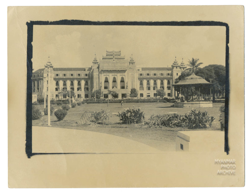 1950s, Architecture, Myanmar, Politics, administration, building, construction, house, manmade, mayor hall, street, structure, townhall