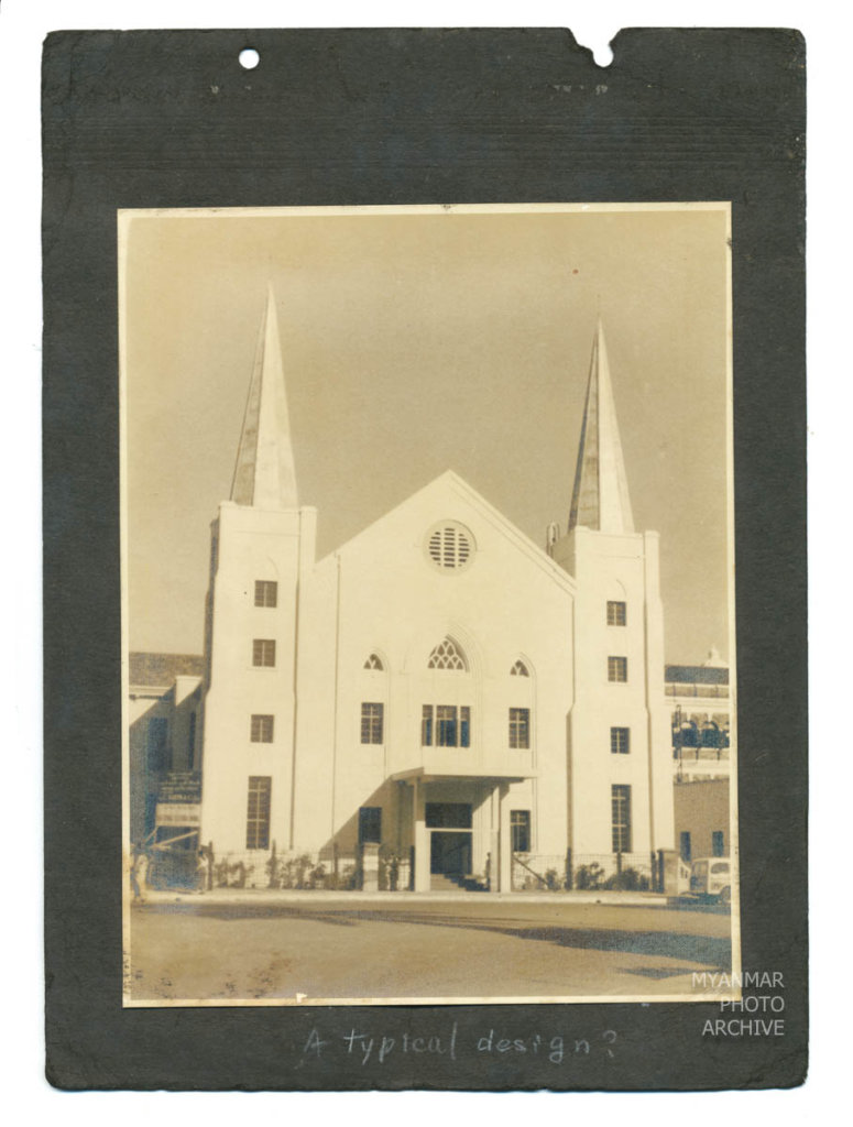 1940s, Architecture, Myanmar, building, church, construction, house, manmade, street, structure